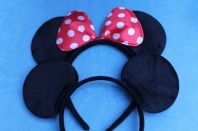 Red Minnie and Mickey Mouse Ears